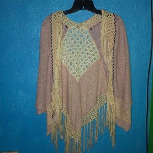 Buckle Sweaters - A fringed cardigan